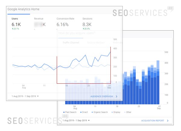 SEOservices.cc SEO Traffic Improvement in 2 weeks
